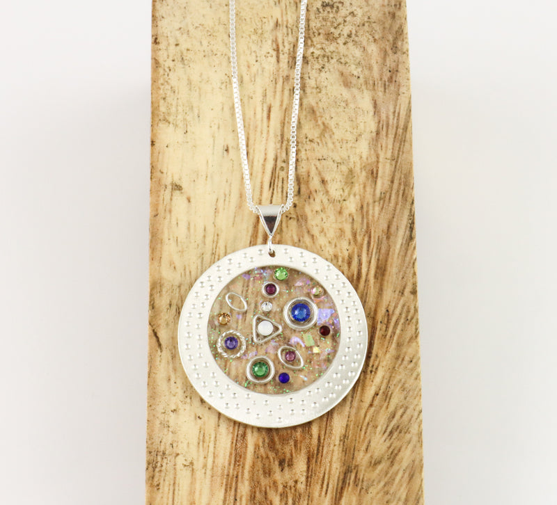 Suspended in Time Circle Pendant