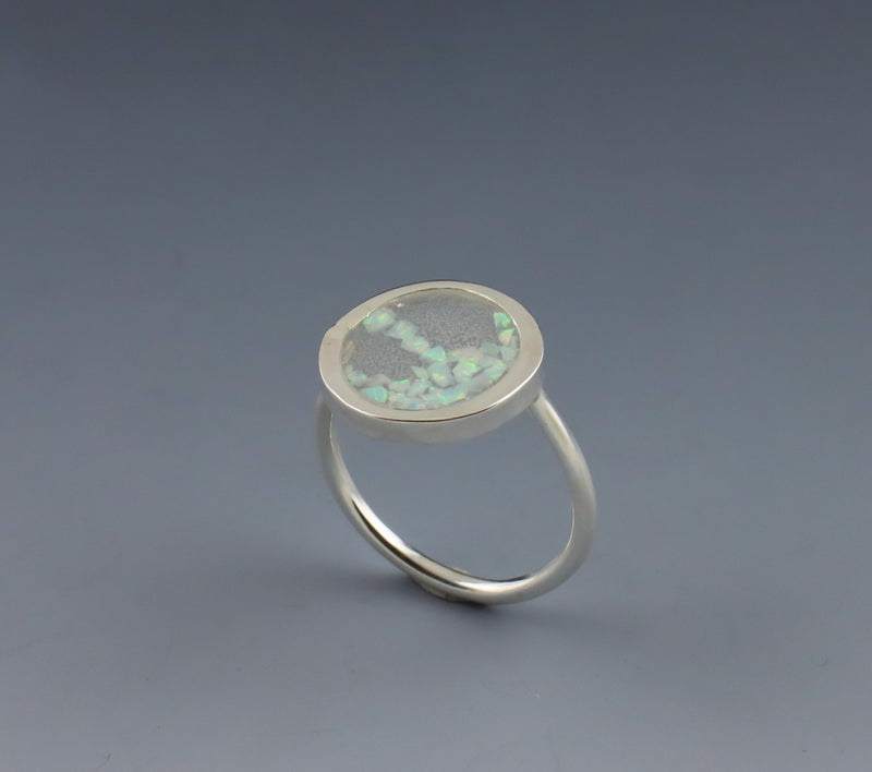 Crushed Opal Ring