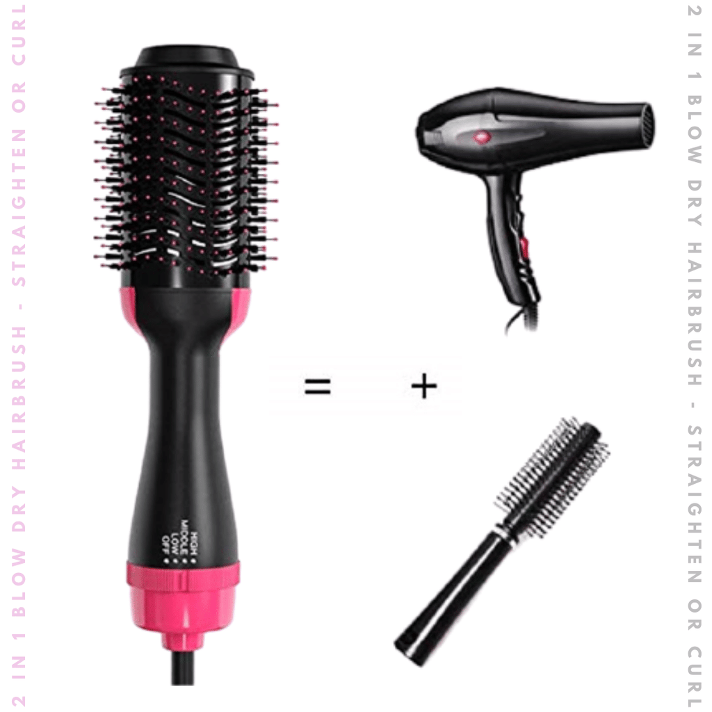 3-in-1 Hair Dryer Styling Hairbrush