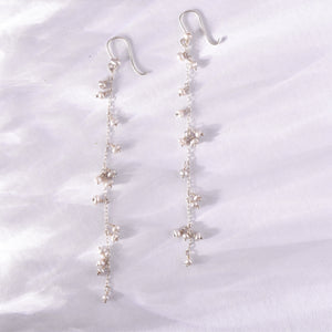 mermaids breath shoulder duster earrings