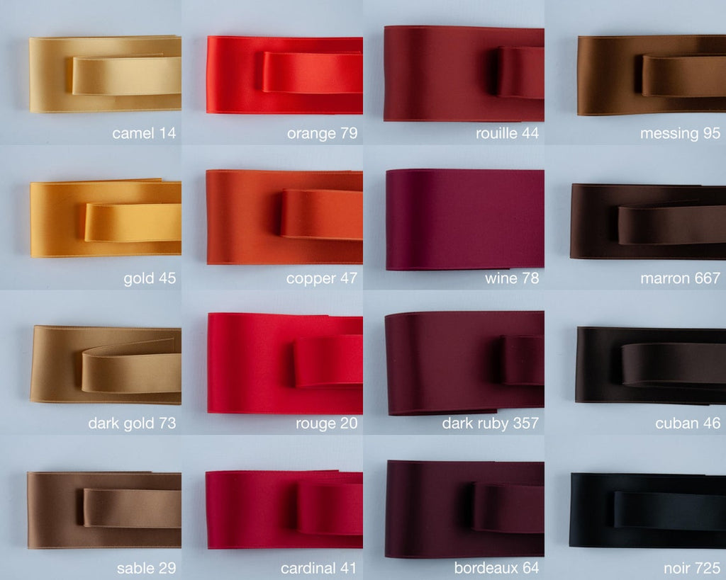 BRIDAL BELT IN MANY SHADES OF RED - SWISS QUALITY!