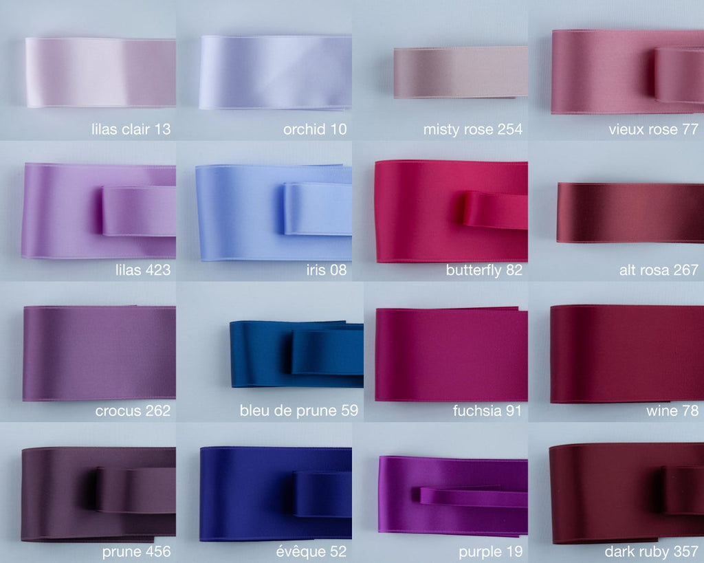 BRIDAL BELT IN MANY SHADES OF LILAC - SWISS QUALITY!