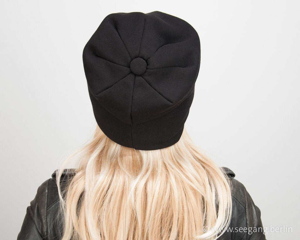 BEANIE COTTON - CLASSIC BLACK AND DOUBLE SIDED © Seegang Berlin