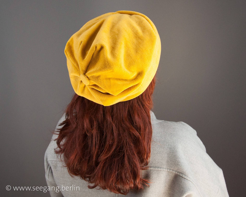 BEANIE VELVET - COTTON VELVET IN CUDDLY MELLOW YELLOW © Seegang Berlin
