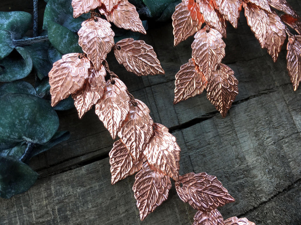 EARRINGS - JEWELRY IN REDGOLDEN COLOR, FAIRY LEAFS © Seegang Berlin