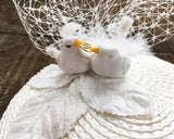 FASCINATOR - LOVEBIRDS IN A WHITE NEST © Seegang Berlin