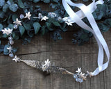 HAIR BAND - JEWELLERY IN SILVER COLOR, FAIRY LEAFS