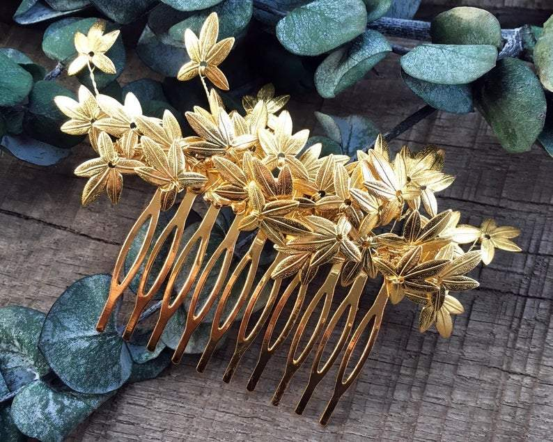 HAIR COMB - BRIDAL JEWELLERY FOR WEDDINGS IN SILVER COLORS THEME © Seegang Berlin