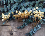 HAIR COMB - jewellery BRANCH OF LEAVES IN VINTAGE BOHO STYLE