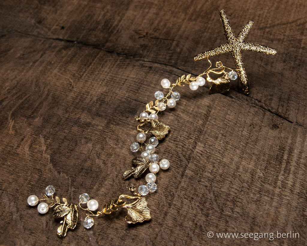 HAIRBAND - BRIDAL JEWELLERY FOR YOUR WEDDING BY THE SEA © Seegang Berlin