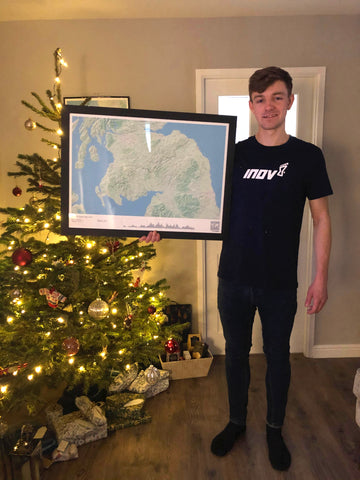 Jack Scott with his Map