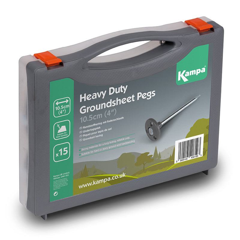 Kampa Dometic Heavy Duty Groundsheet Peg Set (Pack 15)