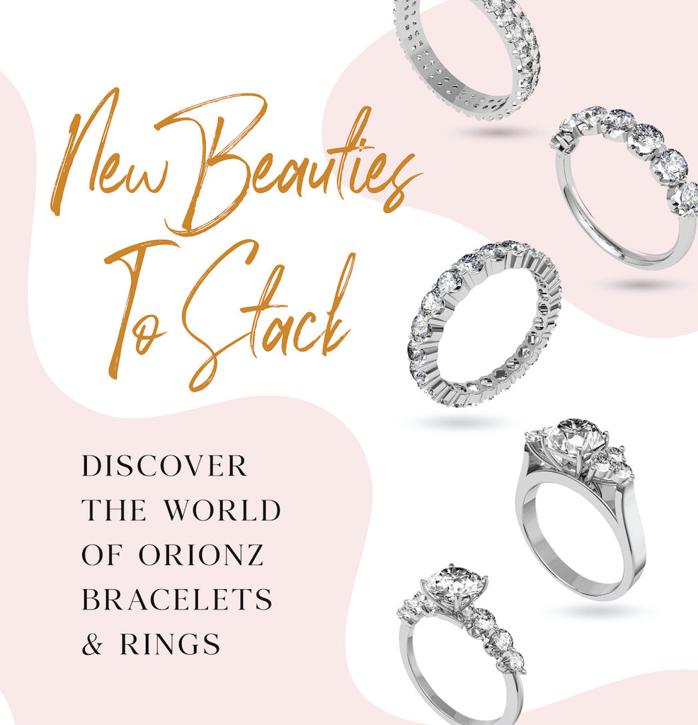 Stackable Ring & Bracelet Collection by Orionz Jewels