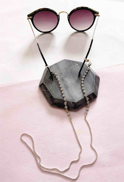 Crystal Beads Mask Chain