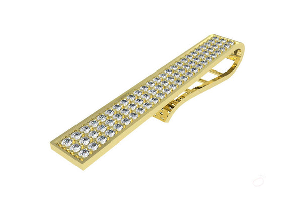 Exquisite CZ Studded Tie Pin For Men