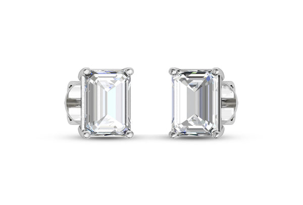 Diamond Solitaire Earrings in Gold