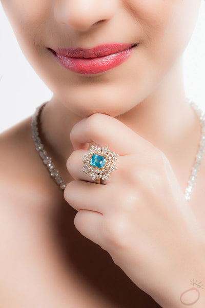 Sky & Water Gemstone Ring by Orionz Jewels