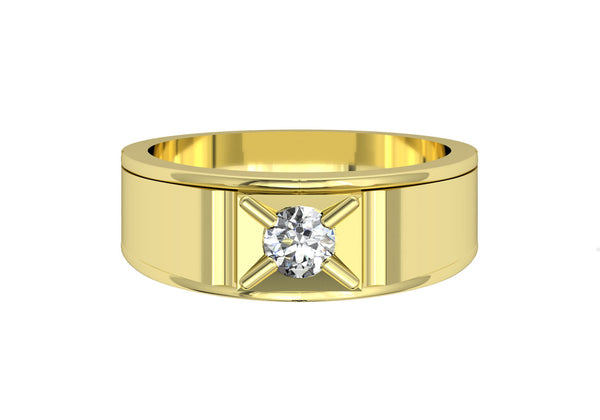 Men Engagement Ring with Diamond Solitaire