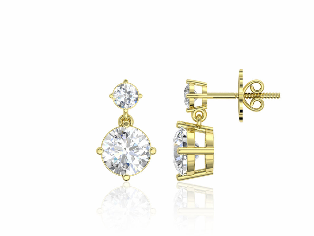 925 Sterling Silver 2 Carat Yellow Gold Plated