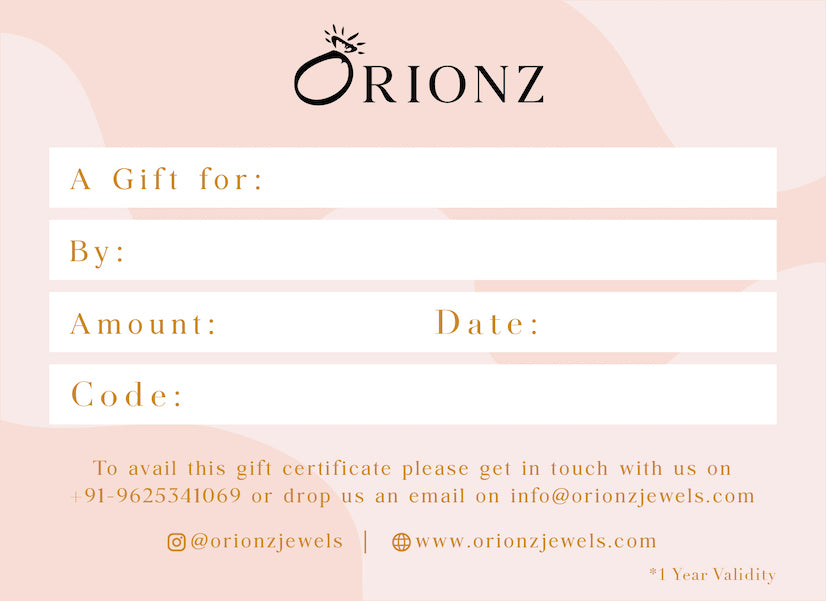 Orionz Gift Voucher For Loved Ones