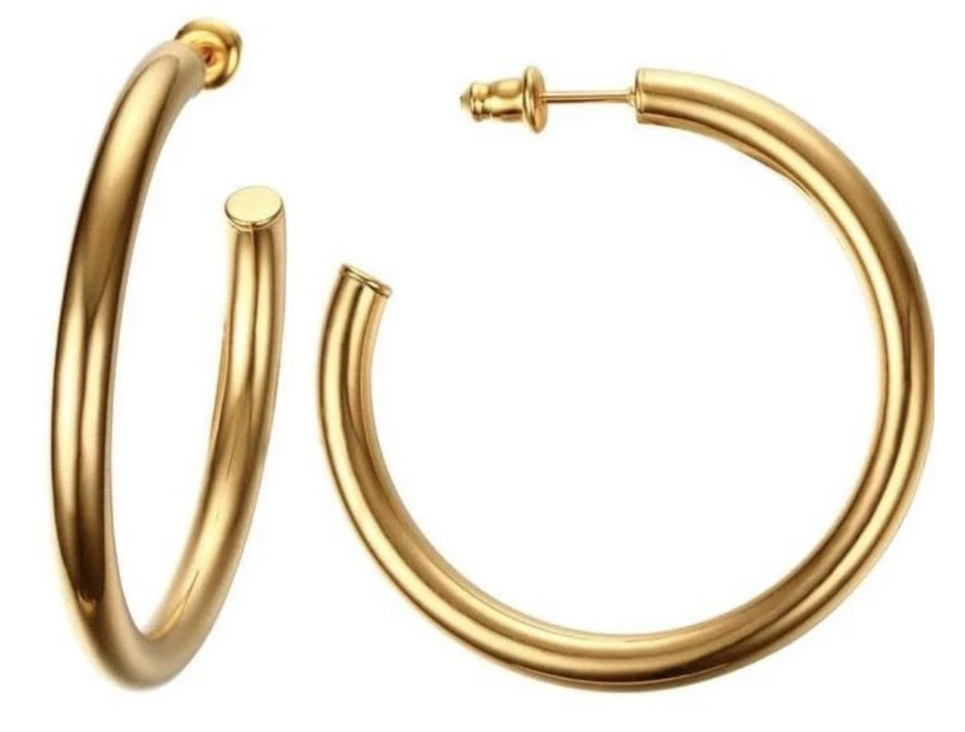 Lennox Medium Gold Hoop