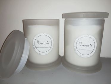 LUXE MEDIUM FROSTED SOY CANDLE - FRANKINCENSE & MYRRH