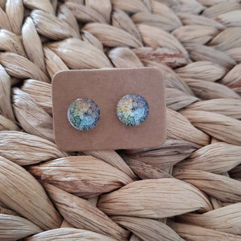GLASS EARRING STUDS - FOUR COLOURS