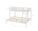 SOLID TIMBER BUNK BED - WHITE