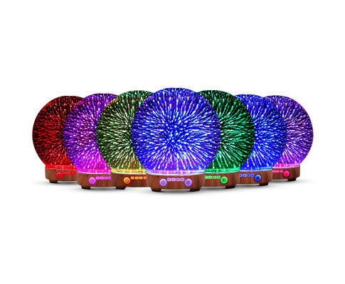 LED 3D FIREWORK AROMATHERAPY DIFFUSER AROMA