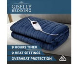 GISELLE ELECTRIC THROW BLANKET - NAVY
