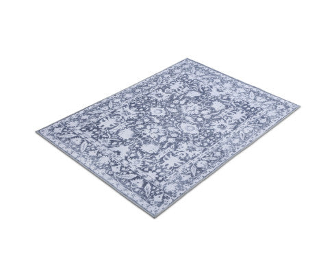 ARTISS SOFT VINTAGE FLOOR RUG 200 x 290 - BLUE / WHITE