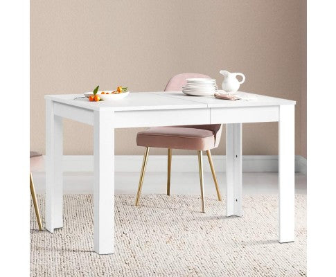 ARTISS WOODEN 4 SEATER DINING TABLE - WHITE