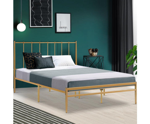 METAL BEDFRAME GOLD AMOR - QUEEN