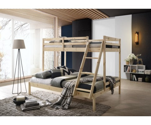 SOLID TIMBER BUNK BED - NATURAL