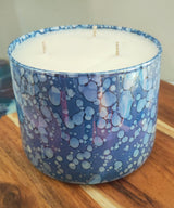 EXTRA LARGE TRIPLE WICK LUXE OMG SCENTED SOY CANDLE NAVY- PINEAPPLE AND MANGO