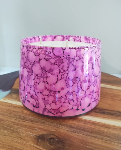 EXTRA LARGE TRIPLE WICK LUXE SOY CANDLE PINK - TUTTI FRUTTI
