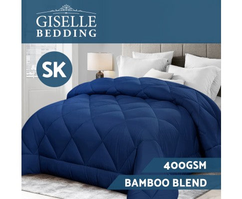 GISELLE BAMBOO MICROFIBRE 400GMS ALL SEASONS QUILT - SUPER KING