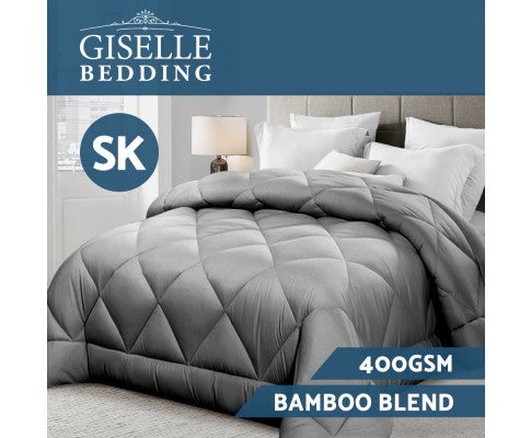 GISELLE BAMBOO MICROFIBRE 400GSM ALL SEASONS QUILT - SUPER KING