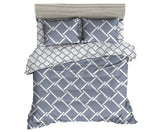 GISELLE REVERSIBLE GEOMETRY QUILT COVER - QUEEN