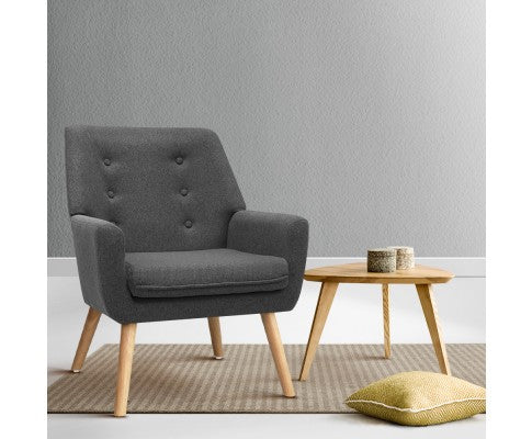 SINGLE TUB DINING ARM CHAIR - CHARCOAL