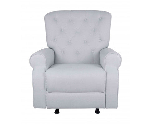 CHESTER LUX ROCKING RECLINER CHAIR - SILVER