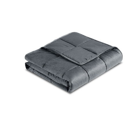 GISELLE PLUSH MINKY 7KG WEIGHTED BLANKET - GREY
