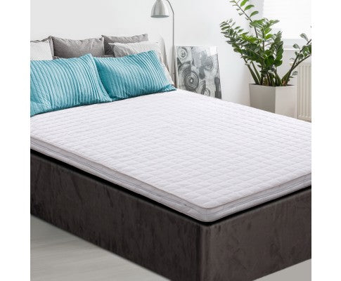 GISELLE BEDDING MEMORY FOAM MATTRESS TOPPER 7CM THICK - QUEEN