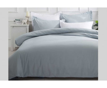 HAZE BLUE MICROFIBRE QUILT COVER - AVAILABLE IN KING & QUEEN