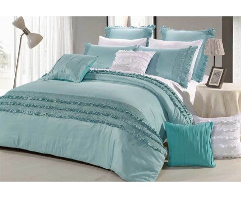 HAZE LUX AQUA QUILT COVER - AVAILABLE IN KING & QUEEN