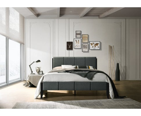 FABRIC KING BED FRAME - CHARCOAL
