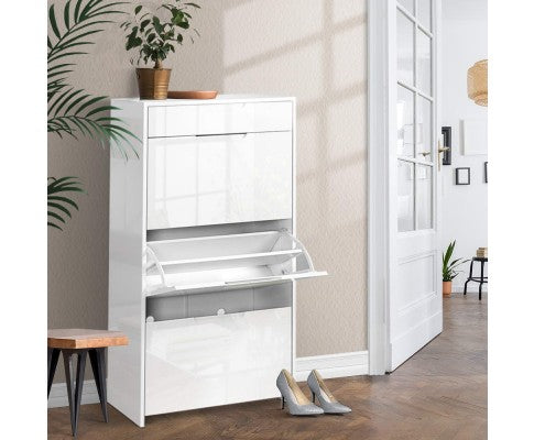 ARTISS HIGH GLOSS SHOE CABINET
