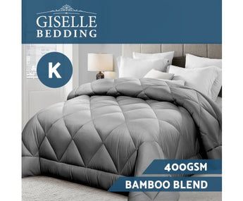 GISELLE BAMBOO MICROFIBRE 400GSM ALL SEASON QUILT - KING