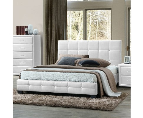 SOHO FAUX LEATHER BED FRAME - QUEEN