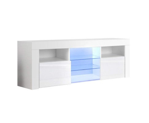 HIGH GLOSS RGB COLOUR CHANGE LED TV ENTERTAINMENT UNIT